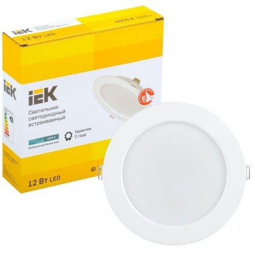 Светильник светодиодный ДВО 1613 12Вт 4000К IP20 круг бел. ИЭК LDVO0-1613-12-4000-K01