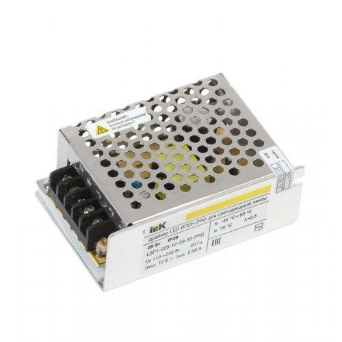 Драйвер LED ИПСН-PRO 5050 25Вт 12В блок-клеммы IP20 ИЭК LSP1-025-12-20-33-PRO