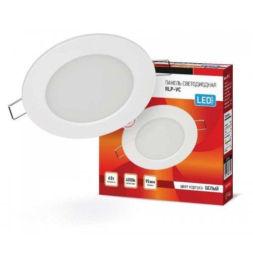Светильник светодиодный RLP-VC 6Вт 230В 4000К 420лм 95мм IP40 панель круглая бел. IN HOME 4690612023342