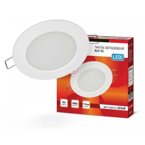 Светильник светодиодный RLP-VC 9Вт 230В 4000К 630лм 118мм IP40 панель круглая бел. IN HOME 4690612023359