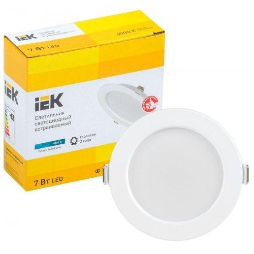 Светильник светодиодный ДВО 1611 7Вт 4000К IP20 круг бел. ИЭК LDVO0-1611-07-4000-K01