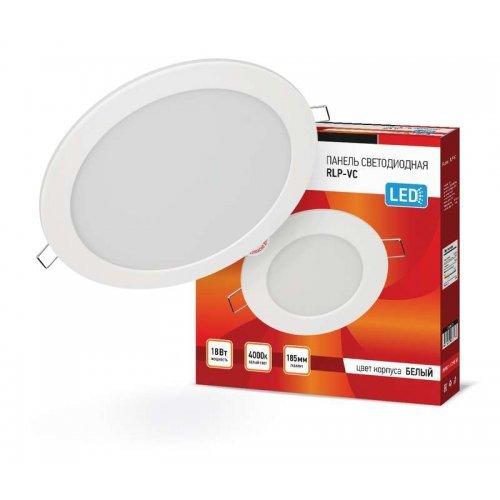 Светильник светодиодный RLP-VC 18Вт 230В 4000К 1440лм 185мм бел. (Аналог Downlight) IP40 IN HOME 4690612023373