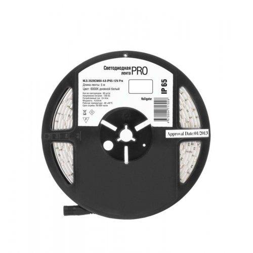 Лента светодиодная 71 702 NLS-3528CW60-4.8-IP65-12V-Pro R5 4.8Вт/м (уп.5м) Navigator 71702