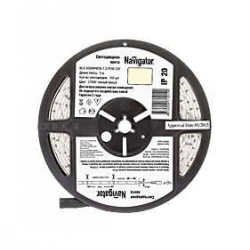 Лента светодиодная 71 414 NLS-5050WW30-7.2 IP20 12B R5 7.2Вт/м (уп.5м) Navigator 71414