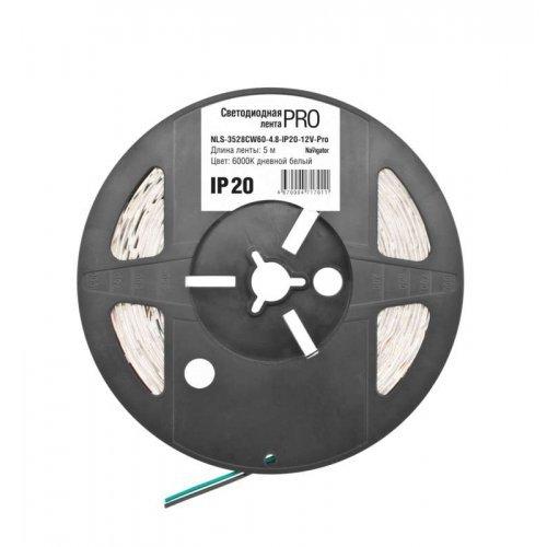 Лента светодиодная 71 701 NLS-3528CW60-4.8-IP20-12V-Pro R5 4.8Вт/м (уп.5м) Navigator 71701