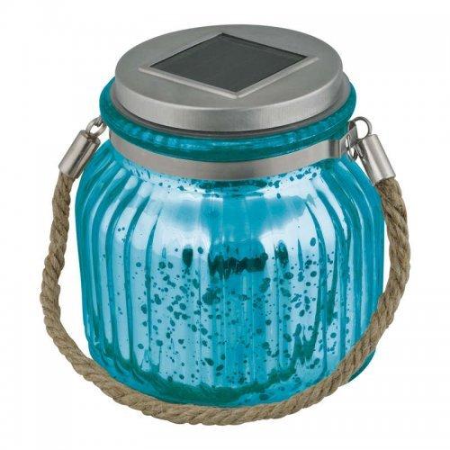 Светильник садовый USL-M-210/GN120 BLUE JAR на солн. батарее IP44 Uniel UL-00003208