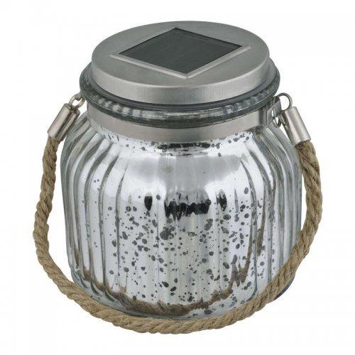 Светильник садовый USL-M-211/GN120 SILVER JAR на солн. батарее IP44 Uniel UL-00003209