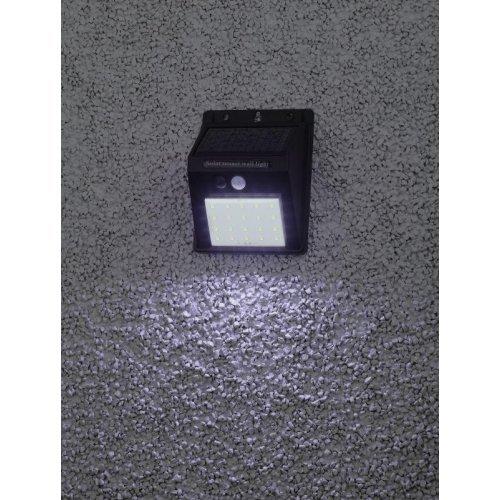 Светильник фасадный ERAFS064-04 20LED 60лм с датчиком движения солнечная батарея ЭРА Б0044244