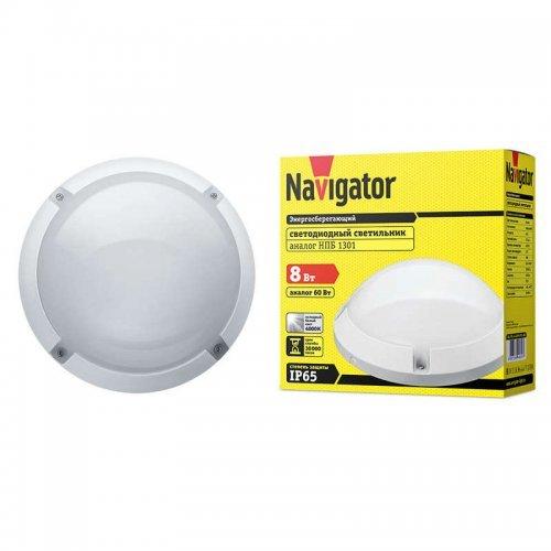 Светильник LED 94 829 NBL-PR1-7-4K-WH-IP65-LED / NBL-PR1-8-4K-WH-IP65-LED 4000К IP65 (аналог НПП 1301 бел. круг) Navigator 94829