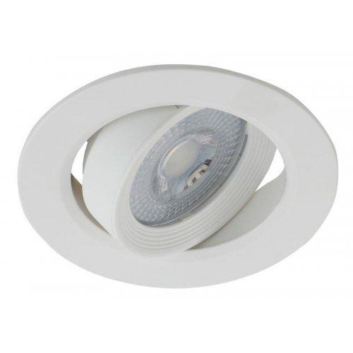 Светильник светодиодный KL LED 22A-5 3K WH круглый поворотн. LED SMD 5Вт 3000К бел. ЭРА Б0037036