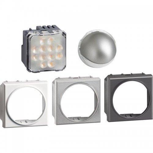 Светильник поворотный 2м точечный LED 230В 2.8Вт 70Лм алюм. антрацит Leg BTC H4360