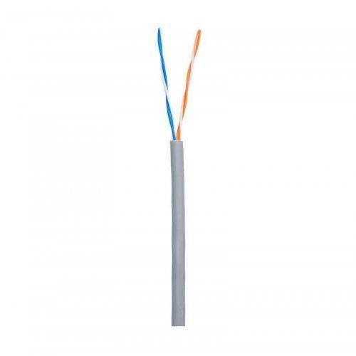 Кабель U/UTP 2 пары кат.5 класс D 100МГц ож BC чистая медь внутр. PVC нг (B) сер. 500м NETLAN EC-UU002-5-PVC-GY-5