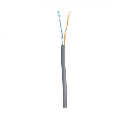 Кабель U/UTP 2 пары кат.5 класс D 100МГц ож BC чистая медь внутр. PVC нг(B) сер. 305м NETLAN EC-UU002-5-PVC-GY