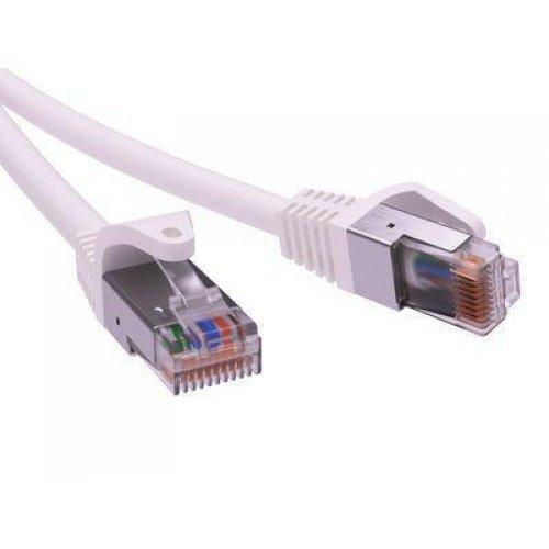 Патч-корд экранированный кат.5е F/UTP 4х2 LSZH 2м бел. ДКС RN5EFU4520WH