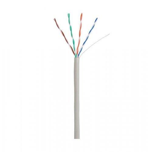 Кабель U/UTP 4 пары кат.5 100МГц ож CCA омедненный алюм. внутр. PVC нг(B) сер. 305м NETLAN CCA-UU004-5E-PVC-GY