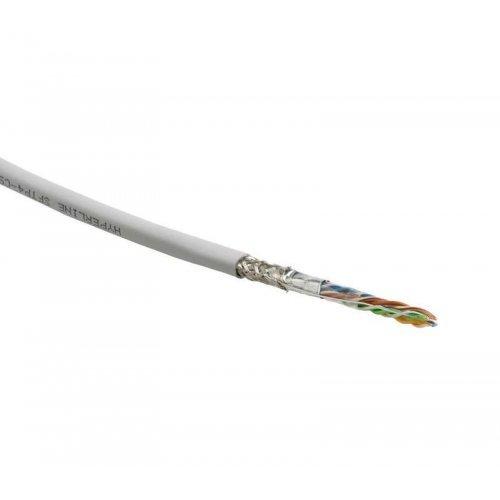 Кабель FTP 4-C5E-SOLID-GY-305 витая пара экран. FTP (F/UTP) кат.5e 4х2х0.5 (24 AWG) ож (solid) экран-фольга PVC (305м) (м) Hyperline 42052