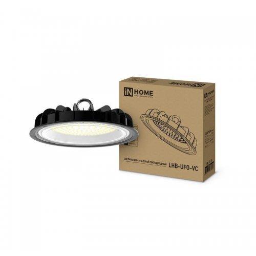 Светильник светодиодный складской LHB-UFO-VC 100Вт 230В 5000К 7500лм IP65 без пульсации IN HOME 4690612033907