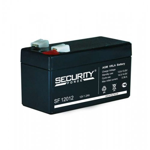 Аккумулятор 12В 1.2А.ч Security Force SF 12012