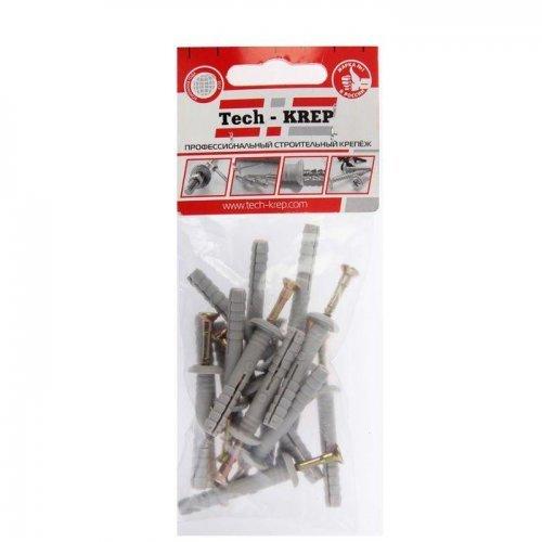 Дюбель-гвоздь 6х40 с грибовидной манжетой полипропилен (уп.16шт) пакет Tech-Krep 102945
