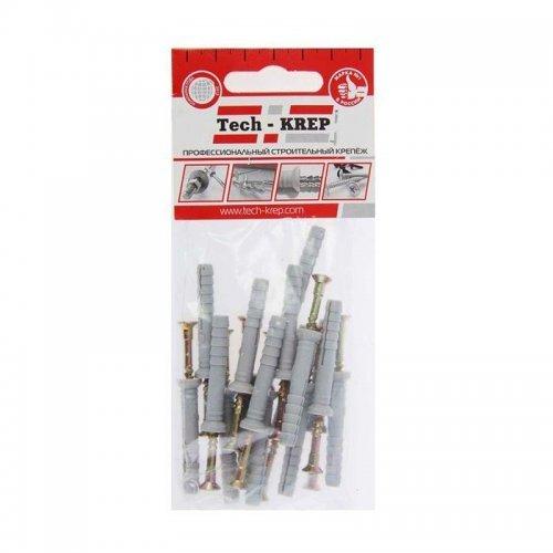 Дюбель-гвоздь 6х40 с потайной манжетой полипропилен (уп.16шт) пакет Tech-Krep 102943
