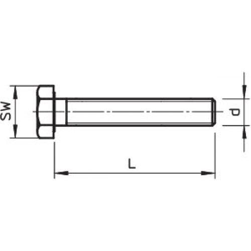 Комплект Болт+Шайба+Гайка М10х80 (шест/гол) SKS 10х80 F OBO 6418250