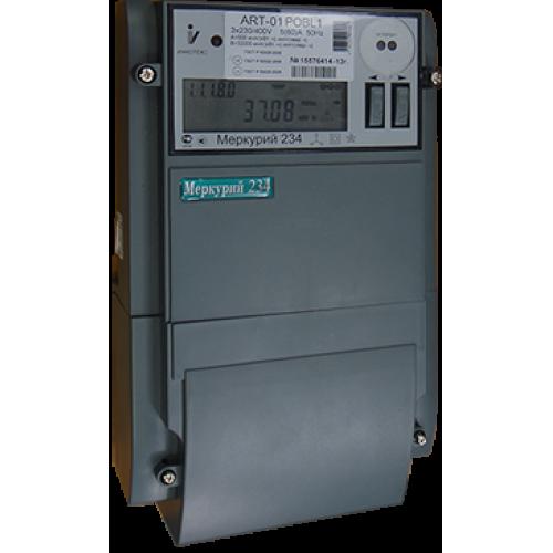 Счетчик электроэнергии Меркурий 234 ART-01 P трехфазный многотарифный, 5(60), кл.точ. 1.0/2.0, Щ, ЖКИ, оптопорт, RS485