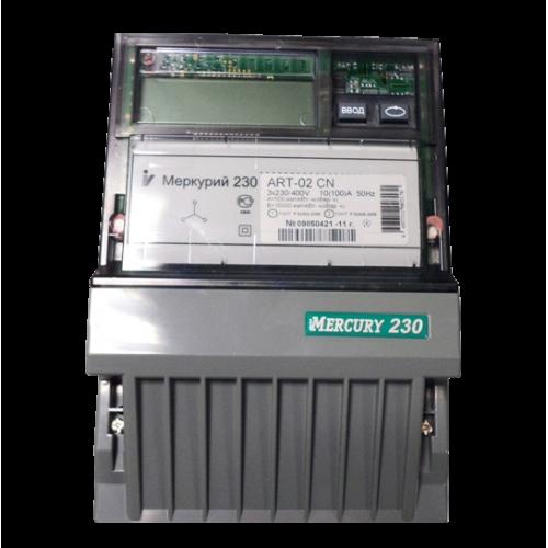 Счетчик электроэнергии Меркурий 230 АRT-02 RN трехфазный многотарифный, 10(100), кл.точ. 1.0/2.0, Щ, ЖКИ, CAN/RS485