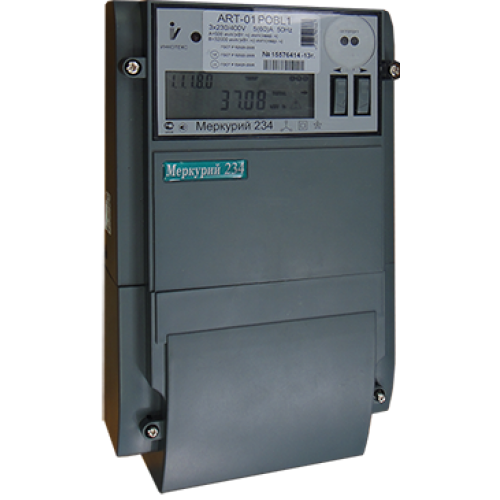 Счетчик электроэнергии Mеркурий 234 ARTM-03 PB.L2 трехфазный многотарифный, 5(10), кл.точ. 0.5S/1.0, Щ, ЖКИ, оптопорт, RS485, PLСII