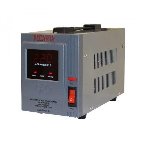 Стабилизатор напряжения АСН-500/1-Ц 1ф 0.5кВт IP20 релейный Ресанта 63/6/1