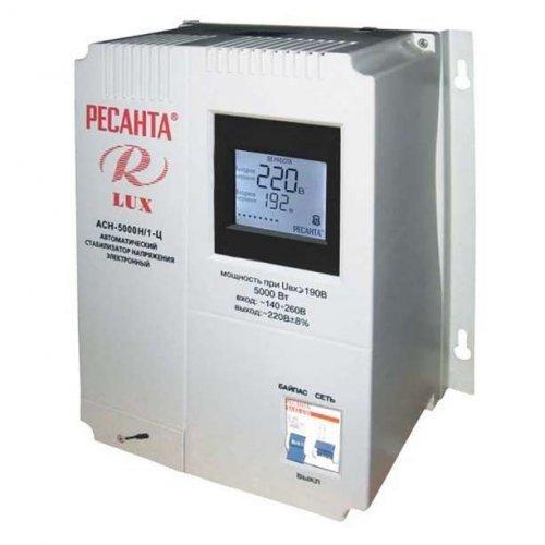 Стабилизатор напряжения АСН-5000 Н/1-Ц 1ф 5кВт настен. IP20 Ресанта Lux 63/6/16