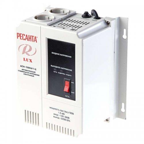 Стабилизатор напряжения АСН-1500Н/1-Ц 1ф 1.5кВт настен. IP20 Lux Ресанта 63/6/20