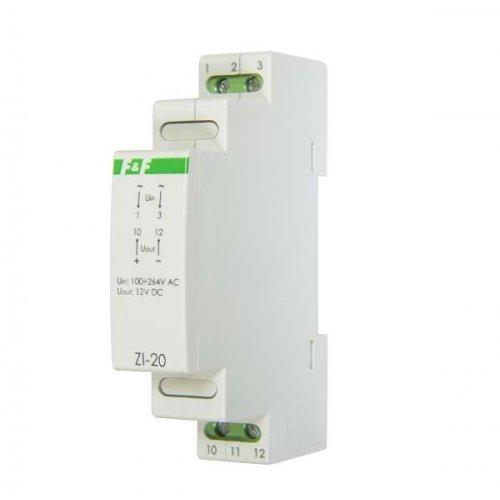 Блок питания ZI-20 (P= 12Вт Uвых. 12В DC 1мод 100-264В AC 1А IP20) F&F EA11.001.027
