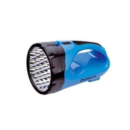Фонарь LED3818SM (аккум 220В 3Вт LED+12SMD LED 2 режима SLA син.) Ultraflash 12104 / 12889
