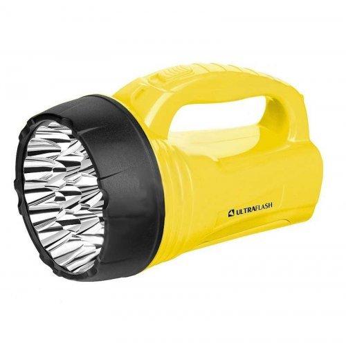 Фонарь LED3819CSM (аккум 220В желт. 9LED +12SMD LED 2 режима SLA) Ultraflash 12102/12860