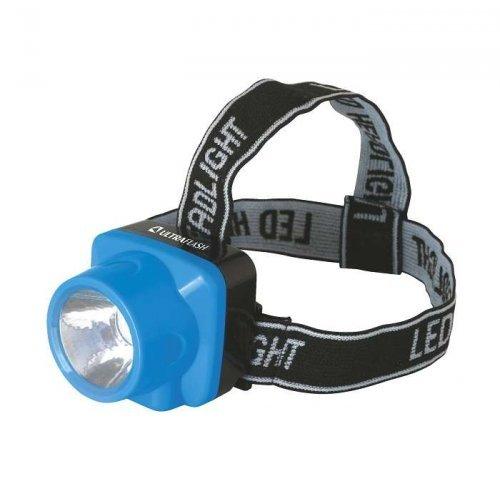 Фонарь налобный аккумуляторный LED 5374 (220В LED 1 режим; голуб.) Ultraflash 12427
