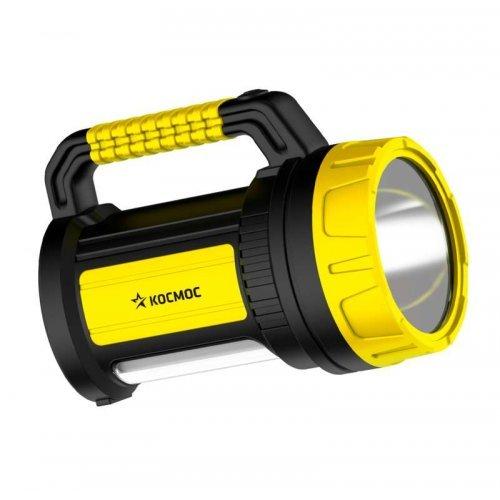 Фонарь светодиодный аккум. 5W LED 3 режима бок. панель 10Вт зарядное устройство 220/12В КОСМОС KOCAc2005W_Ex