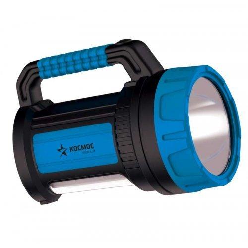 Фонарь светодиодный аккум. KOSMOS premium 7W LED зарядное устройство 220/12В USB зарядка телефона КОСМОС KOSACCU9107WUSB