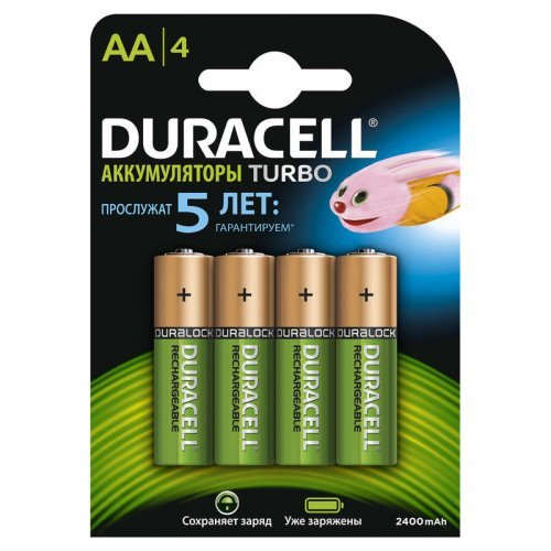 Аккумулятор HR6-4BL 2400мА.ч предзаряженные (блист.4шт) Duracell Б0014863