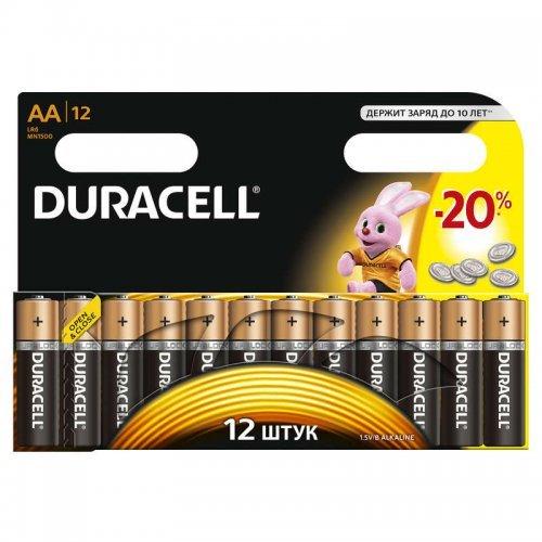 Элемент питания алкалиновый LR MN 1500/LR6 BASIC BP-12 (блист.12шт) Duracell C0037388