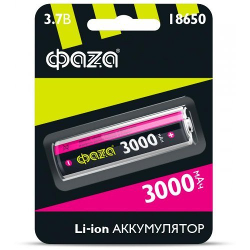 Аккумулятор Li-Ion 18650 3000мА.ч без защиты ФАZА 5004757