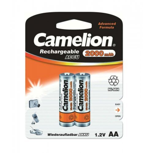 Аккумулятор R6 NI-MN 2000мА.ч BP-2 (блист.2шт) Camelion 3504
