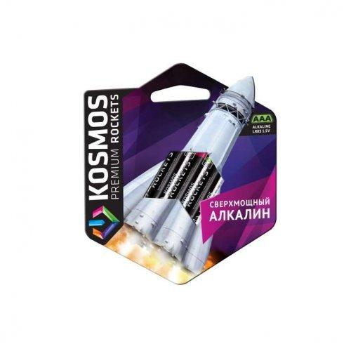 Элемент питания алкалиновый LR03 KOSMOS premium ROCKETS (блист. 4шт) Космос KOSLR03ROCKETS4BL
