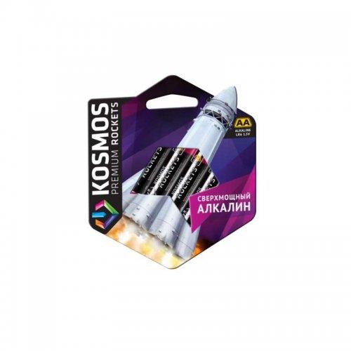 Элемент питания алкалиновый LR6 KOSMOS premium ROCKETS (блист. 4шт) Космос KOSLR6ROCKETS4BL