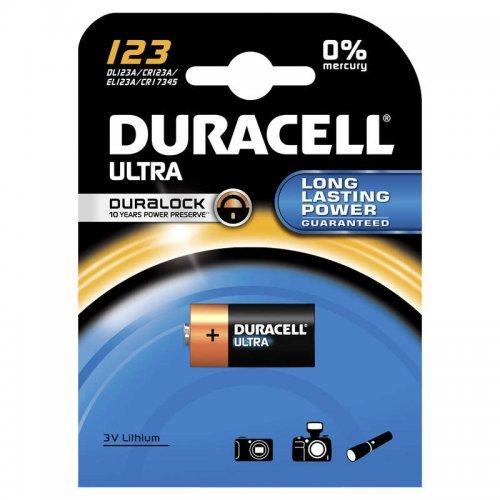 Элемент питания литиевый CR123 BP-1 ULTRA (блист.1шт) Duracell A0001263