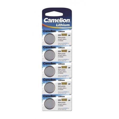 Элемент питания литиевый CR CR2025 BL-5 (блист.5шт) Camelion 1594