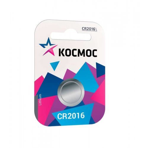 Элемент питания литиевый CR 2016 1хBL (блист.1шт) Космос KOC20161BL