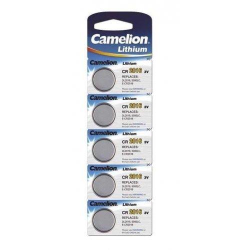 Элемент питания литиевый CR CR2016 BL-5 (блист.5шт) Camelion 1593