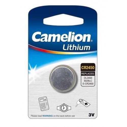 Элемент питания литиевый CR CR2450 BL-1 (блист.1шт) Camelion 3072