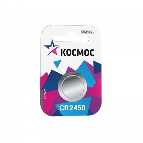 Элемент питания литиевый CR CR2450 1хBL (блист.1шт) Космос KOCR24501BL