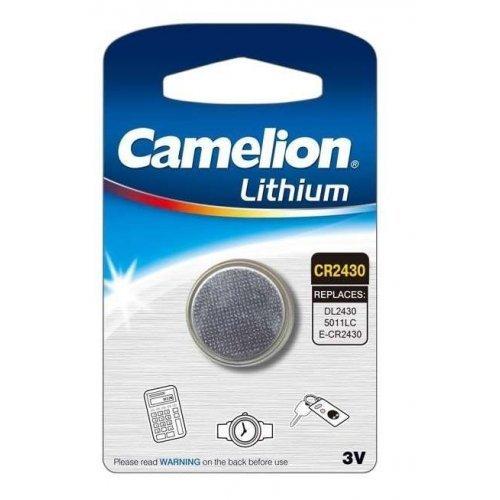 Элемент питания литиевый CR CR2430 BL-1 (блист.1шт) Camelion 3073